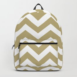Sand - grey color - Zigzag Chevron Pattern Backpack