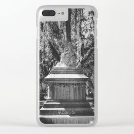 Bonaventure Cemetery Statue Clear iPhone Case