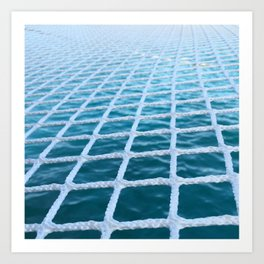 Catamaran net Art Print