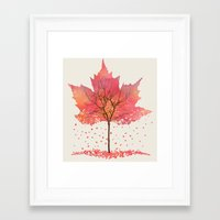 fall Framed Art Prints featuring Fall by Dan Hess