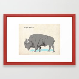Bull for John Baldessari Framed Art Print
