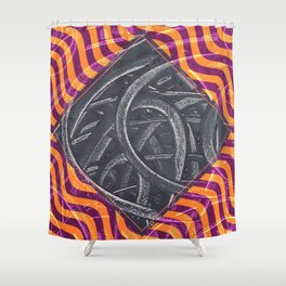 Junction - purple/orange Shower Curtain