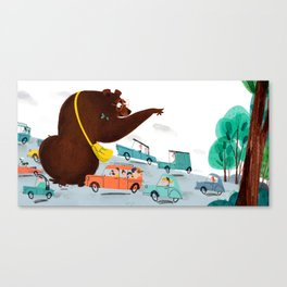 BOOKS AREN'T FOR BEARS Canvas Print