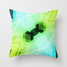 Revive - Geometric Abstract Art Throw Pillow