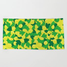 yellow world! Beach Towel