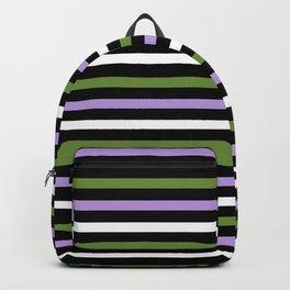 Genderqueer Pride Horizontal Stripes Backpack