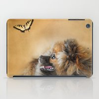 pomeranian iPad Cases featuring Butterfly Dreams - Pomeranian by Jai Johnson