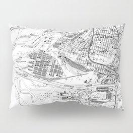 Vintage Map of Oakland California (1959) BW Pillow Sham