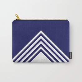 Color block white and navy blue Carry-All Pouch