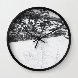 Inverted Brushstroke Print Wall Clock