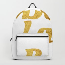 Boss Lady in Cursive Gold Backpack