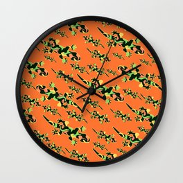 Lizards- tribal Wall Clock