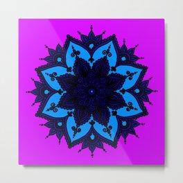 Kids Mandala Purple Metal Print