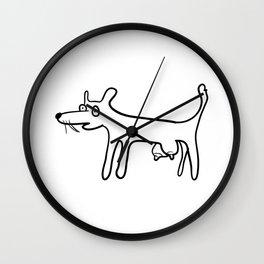 Tit-Dog Wall Clock