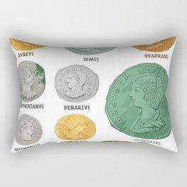 Roman Coin Chart Rectangular Pillow