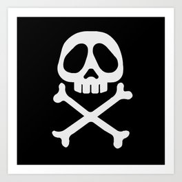 Skull head Art Print