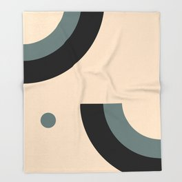 Gray Pink Black Throw Blanket