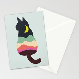 Cat in The Night Stationery Cards