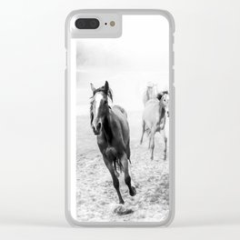 Running with the horses Clear iPhone Case