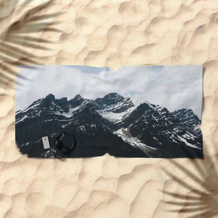 Mountains In Icefield Parkway Beach Towel