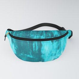 Bright Blue Snow Nights with Icicles Fanny Pack