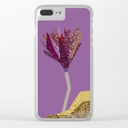 Purple Flower (lilac) Clear iPhone Case