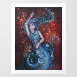 Red Ocean Art Print