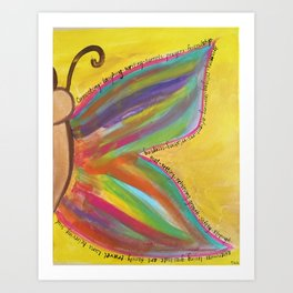 what gives you wings? Art Print