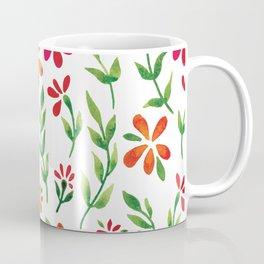 Dark Florals   Original White Palette Coffee Mug