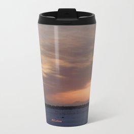 Mt. Redoubt Ashflow at Sunset #1 Travel Mug