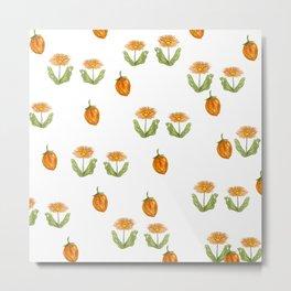 orange daisies on a summer day Metal Print