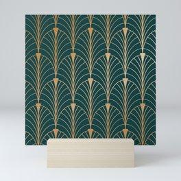 Hidden Sapphire Gold Pattern Mini Art Print
