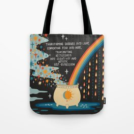 Transforming darkness into light Tote Bag
