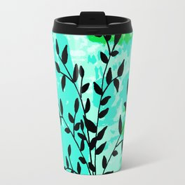 Plant in vase with dots Travel Mug