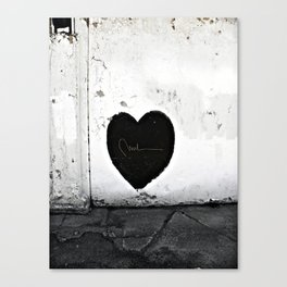 Street Heart Canvas Print