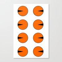 tigger Canvas Prints featuring DCNSTRCTD TGGR (tigger) by PTRCKTRNR