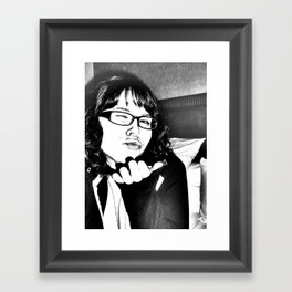 the gritty kiss Framed Art Print