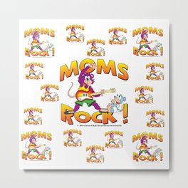 Moms Rock Pattern Metal Print