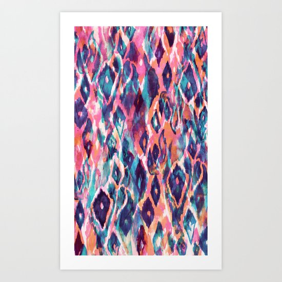 Mystical Ikat Art Print