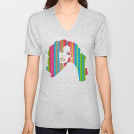 Donna Summer | Pop Art Unisex V-Neck