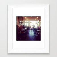 cafe Framed Art Prints featuring cafe by melanielaurene