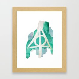 Watercolor Hallows Framed Art Print