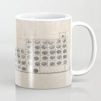 periodic table Mugs featuring Periodic table by Florian Pasquier