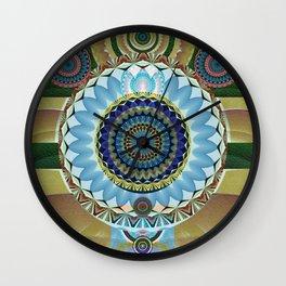 Gentle Grounding Earthling Mandala Landscape Wall Clock