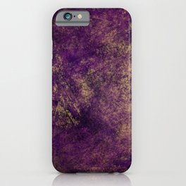 Boho Grunge Textured Colors Purple Beige iPhone Case