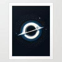 The Black Hole Art Print
