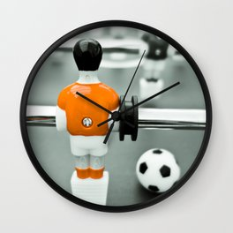 Table Football 02B - Defender - Orange (everyday 30.01.2017) Wall Clock