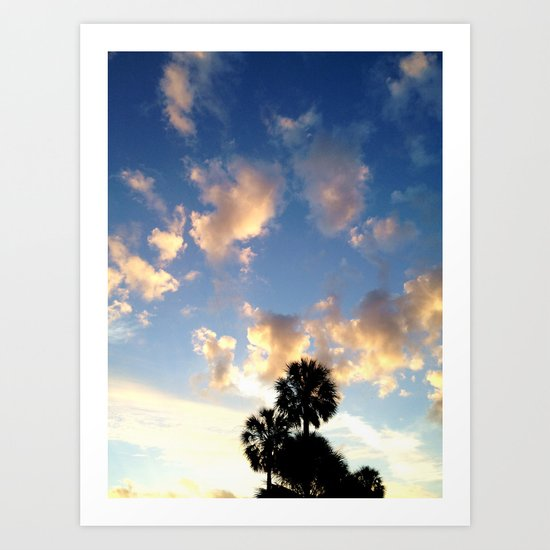 Palm Trees, Ocean Breeze Art Print