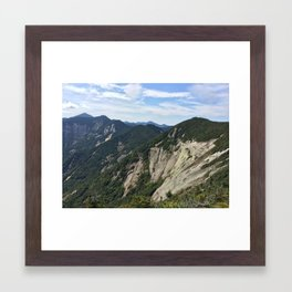 Sawteeth Summit Framed Art Print