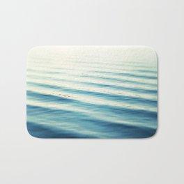 Ocean Waves Blue Photography, Aqua Water Sea Seascape Photo, Teal Beach Coastal Abstract Waves Bath Mat